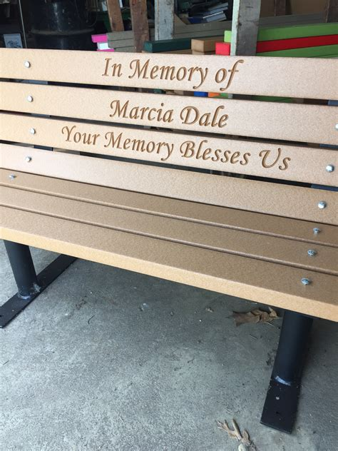 park bench memorial memorial park bench with permanent post frames great eagle
