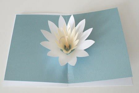 lotus flower pop up card template free free pop up cards patterns studio design gallery