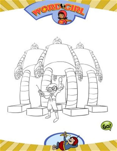coloring page word girl chica super sabia word girl para dibujar colorear