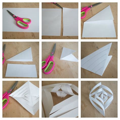How To Make A 3d Picture On Paper - easy to make 3d paper snowflakes