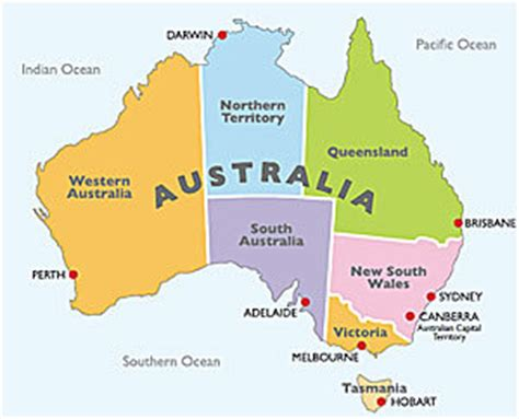 australia map with country names and capitals sydney city va vis et deviens