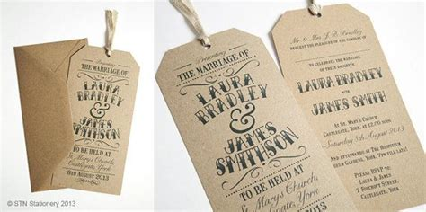 vintage tag wedding invitation gift tag luggage tag eco sle a fonts and gifts