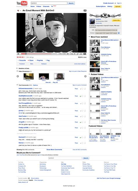 old youtube layout stylish a look at the new youtube video page robert s blog