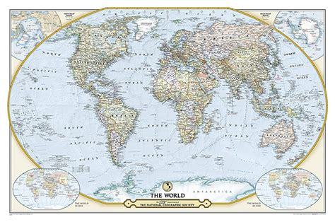 map world laminated buy 125th anniversary world map laminated by national