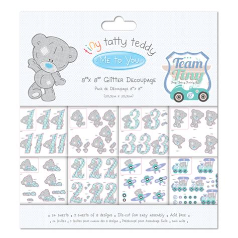 Me To You Decoupage - tiny tatty teddy collections craft supplies