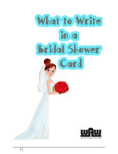 wedding shower card message what to write in a bridal shower card