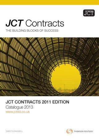 jct design and build contract guidance jct contracts catalogue 2013 by thomson reuters issuu