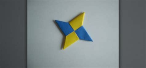 Origami Shuriken - how to fold a modular two sheet paper shuriken