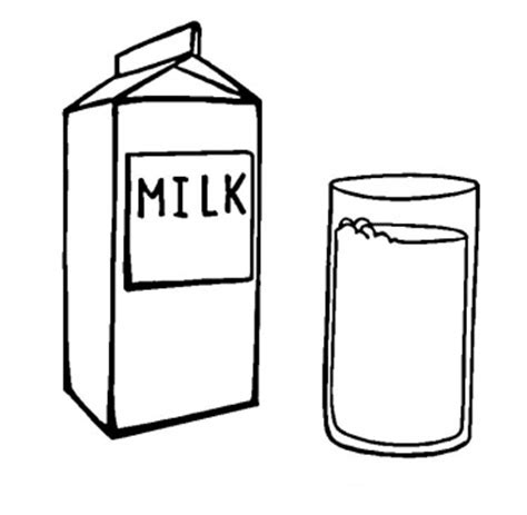 milk carton outline clipart best