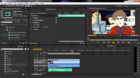 tutorial adobe premiere adobe premiere tutorial highpass and lowpass filters