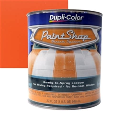dupli color paint shop finishing system hugger orange paint bsp207
