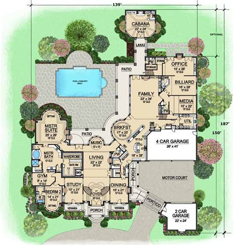 monster house plans monster house plans porte cochere