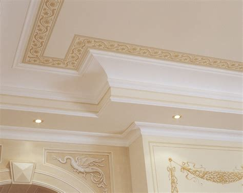 Ceiling Border Ideas - ceiling painting with plaster border and frames from