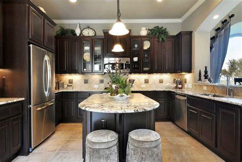 kitchen awesome kitchen design with dark oak u shaped kitchen backsplash ideas with dark cabinets home design