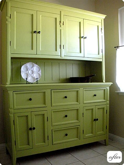 kitchen cabinet with hutch before after hutch cabinet and desk makeovers design sponge