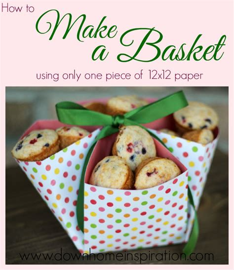 How To Make Paper Basket For - make a basket with only one of 12x12 paper