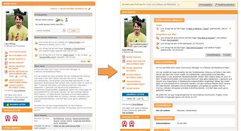 Lebenslauf Profil Neues Profil Und Neuer Lebenslauf E Fellows Net