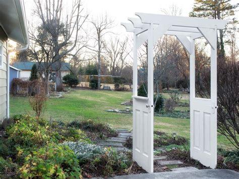 Garden Arbor With Door Make A Garden Arbor From Wooden Doors How Tos Diy