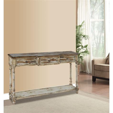 distressed wood console table with drawers distressed wood console table with drawers bluestone