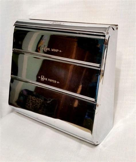 atomic  kitchen chrome wall dispenser wax paperfoil