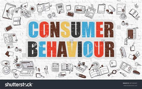 consumer pattern en francais multicolor concept consumer behaviour on white brick