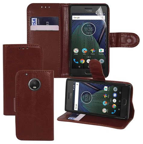 Flip Wallet Moto G5s Plus Flip Cover Leather Flip Cover Moto G5s motorola lenovo moto g5 plus wallet flip cover pouch book protector stylus ebay