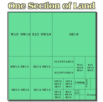 acres in a section of land mapping land oklahoma county assessor ok