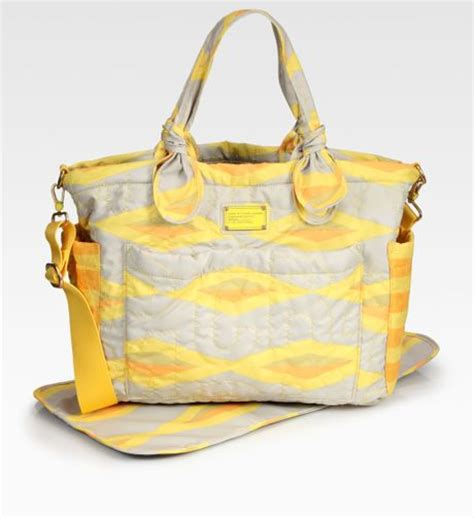 Quilted Baby Bags by Marc By Marc Quilted Baby Bag In Yellow