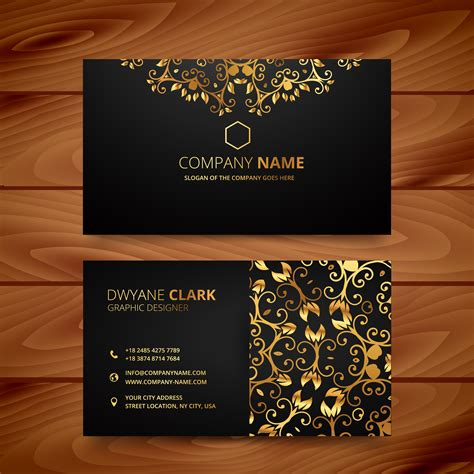 golden business card template free stylish golden premium luxury business card template