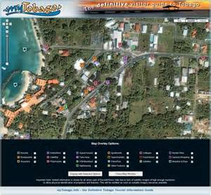 aerial map of tobago maps interactive satellite and aerial maps of tobago