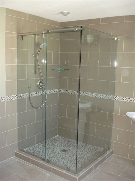 Hydroslide Shower Doors Type Sl123 Brushed Nickel Finish Kristy Glass Co