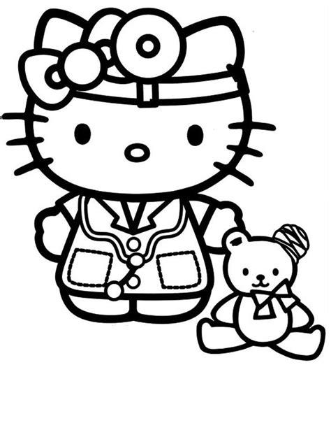 Desenho de Hello Kitty médica para colorir   Tudodesenhos