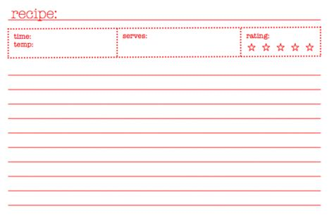 template for 4x6 recipe cards 40 recipe card template and free printables tip junkie