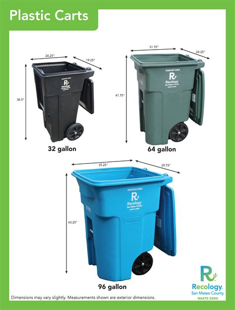 64 gallon trash can 64 gallon trash can waste management vestil mobile trash can th64grn 64 gallon green garbage