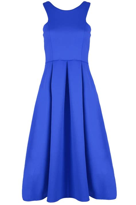 swing dress with high neck womens ladies sleeveless pleated flared high neck swing
