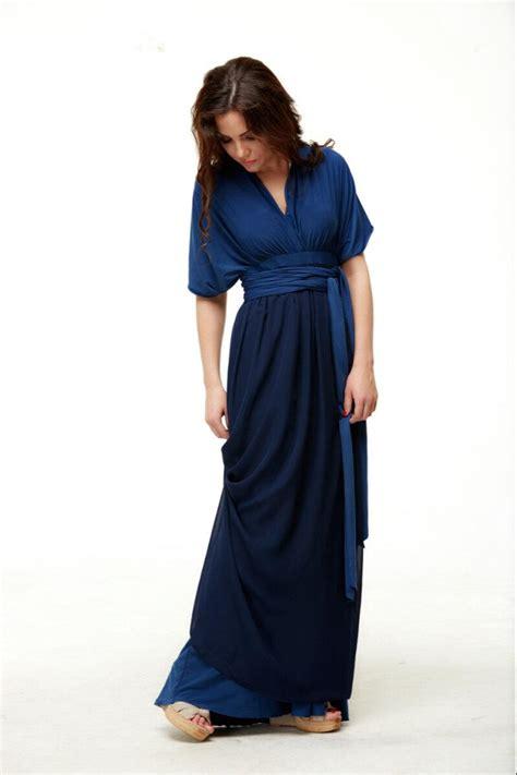 Floor Length Wrap Dress by Navy Blue Dress Bridesmaid Dress Infinity Floor Length