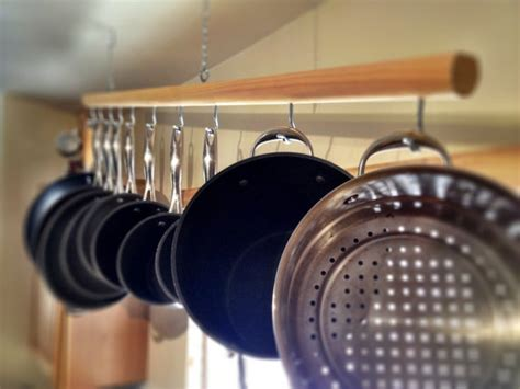 Pot Rack Sink Skip Drying Your Pots And Pans By Hanging A Pot Rack