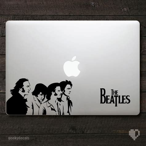 Decal Sticker Apple Beatles Katze Decal geeky decals the beatles white album macbook decal