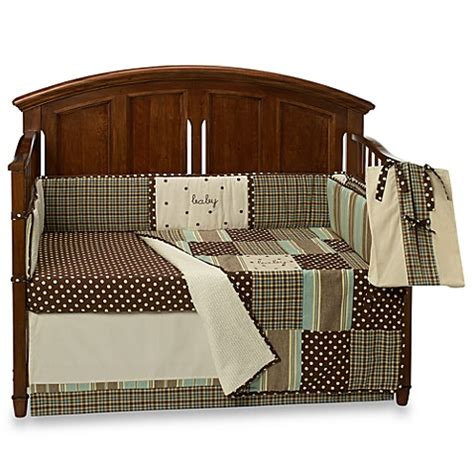 plaid crib bedding my baby sam mad about plaid in blue crib bedding ensemble bed bath beyond