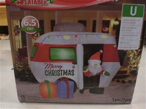 gemmy 6 inflatable santa in rv 87076 gemmy animated santa in cer rv motorhome airblown inflat
