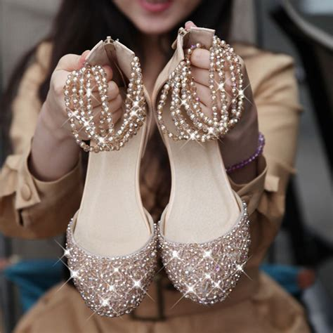 Wedding Shoes With Bling by Bling Flat Wed Flat Bridal Shoes Shoe
