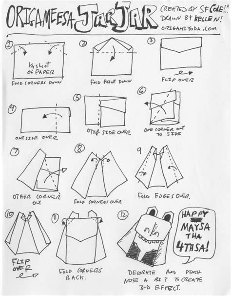 How To Fold Wars Origami - free coloring pages how to fold easy origami wars