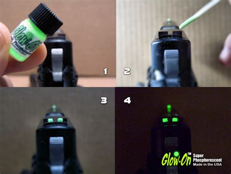 glow in the paint for gun sights glow on phosphorescent 1 gun sights paint page 10