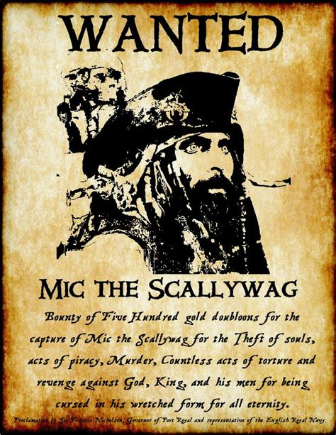 wanted pirate poster template wanted poster mic the scallywag argggh things pirate