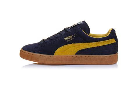 Suede Yellow Original suede classic navy mustard yellow