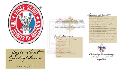 eagle scout court of honor program template out of darkness