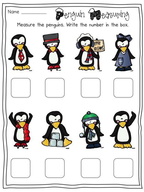 Penguin Worksheets by Free Penguin Measuring Activity Penguins
