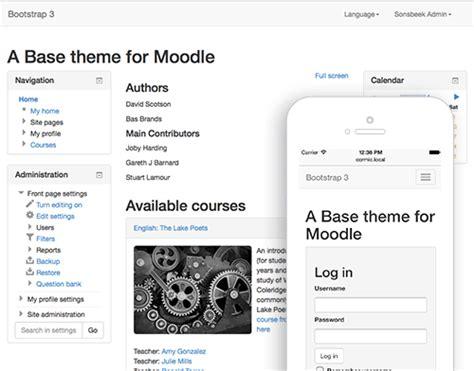 moodle theme base moodle plugins directory bootstrap