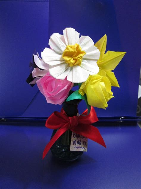 Origami For Birthday Gift - origami birthday flowers by minnichi on deviantart