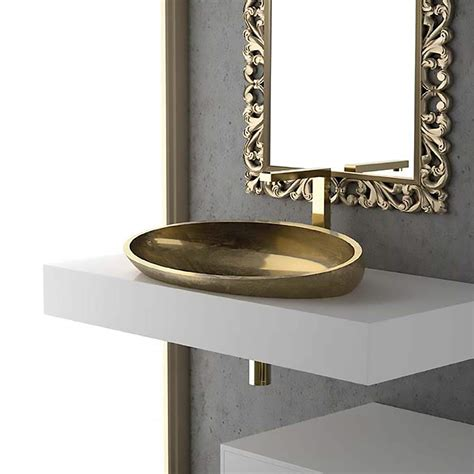 drop in bath sink modern oval drop in bath sink gold leaf